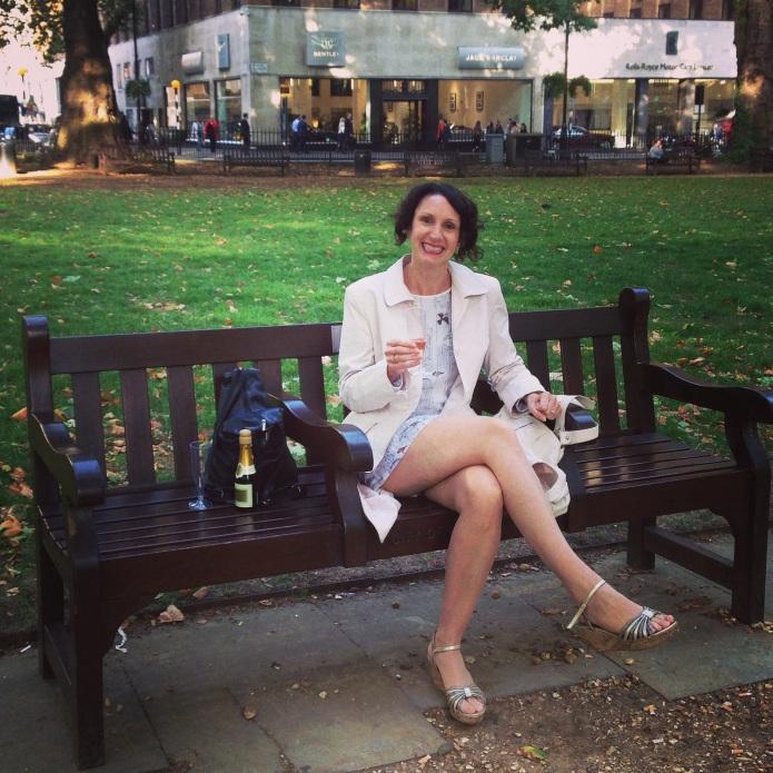 Kelly at my bench