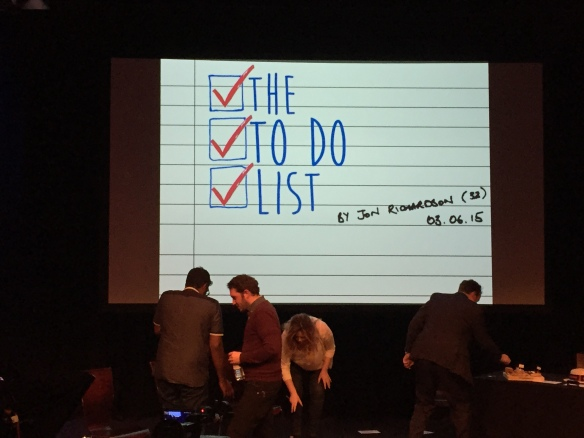 Jon Richardson's To Do List
