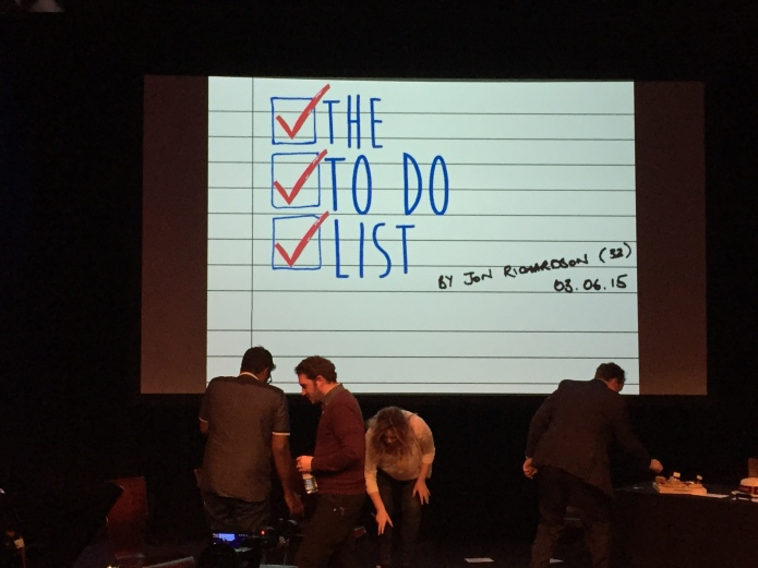Jon Richardson's To Do List
