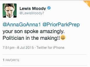 Lewis Moody Tweet